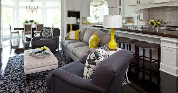 Wohnzimmer Farbgestaltung ? Grau Und Gelb - Wohnzimmer ... Wohnzimmer Schwarz Gelb