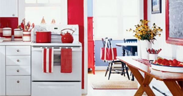 Kitchen Decorations Red Kitchen And White Kitchens On Pinterest