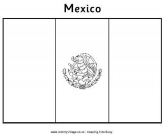 Mexico Flag Colouring Page Flag Coloring Pages Mexican