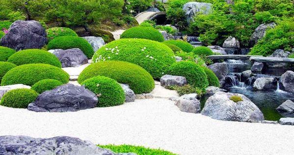 japanischer garten moos steine wei er kies teich. Black Bedroom Furniture Sets. Home Design Ideas
