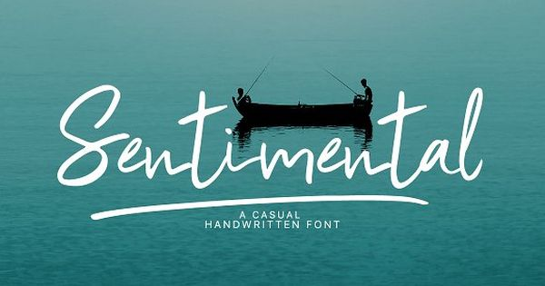 Sentimental | Handwritten Font by Nursery art