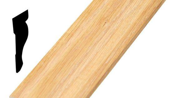 3818 11/16 In. X 1-1/2 In. X 96 In. Wood Red Oak Base Cap