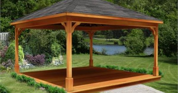16 X 16 Cedar Ramada Gazebo Pergola Patio Pergola With Roof