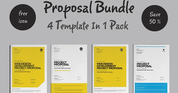 Web Design Proposal Bundle By Fahmie On @Creativemarket | Graphic