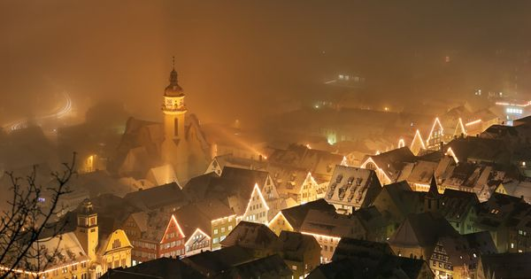 Albstadt, Germany. Reminds me of Christmas time!