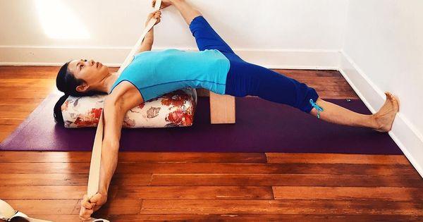 Detail Depth Eka Pada Koundinyasana 2 Is Similar In Shape To Supta Padangusthasana 2 But Taken As An Arm Ba Restorative Yoga Poses Iyengar Yoga Basic Yoga
