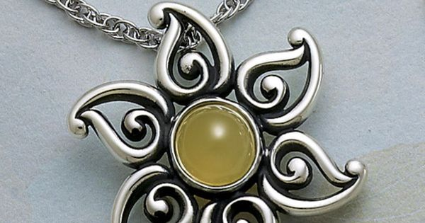 Yellow Opal Sun Pendant From James Avery Jewelry