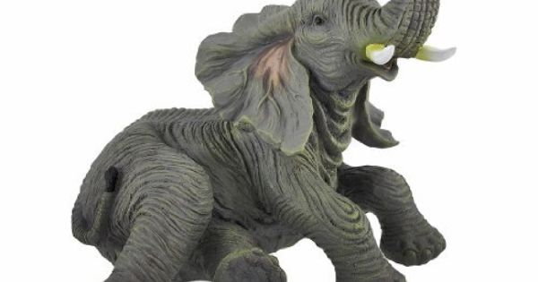 Detailed Lounging Baby Elephant Indoor/Outdoor Statue By