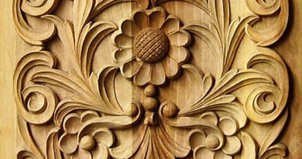 carved flowers and floral patterns #woodcarving  Classic Wood Carving  Pinterest ...