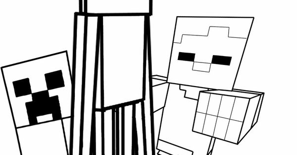 Minecraft mob coloring pages for children at the library for Minecraft chicken coloring pages