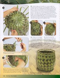 How To Weave Hawaiian Coconut Palm Fronds Caning Com Flax Weaving Leaf Crafts Basket Weaving