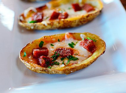 Pioneer Woman: Potato Skins - EDIT: I made mine with EVOO, truffle