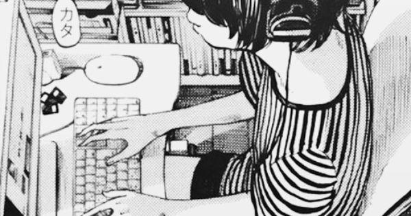 Image Via We Heart It #anime #boy #chat #computer #manga