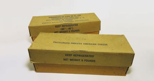 Lot of 2 vintage government cheese cardboard boxes. Reagan ...