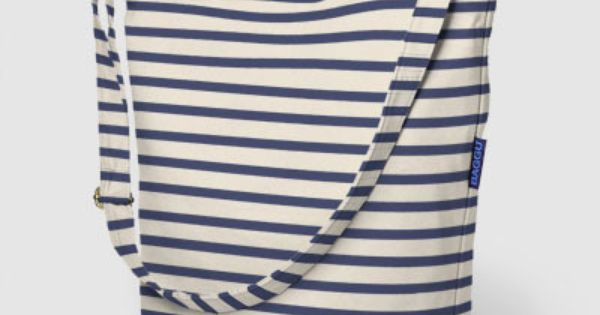 Baggu Duck Bag (100% Recycled Cotton Canvas) - Color: Sailor Stripe by