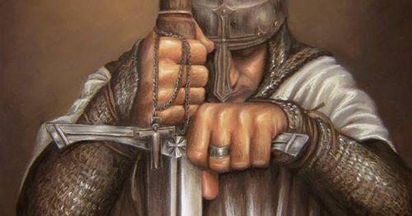 knight prayer plegaria del caballero by la mora