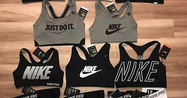 Fe ciega Aleta semestre  Nike Pro Shorts & Nike Sports Bra Exploded Nike Logo NWT - Each Sold  Separately | Cheer outfits, Athletic outfits, Sporty outfits