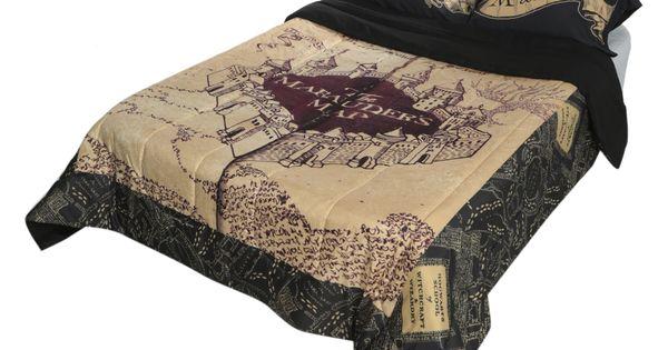 harry potter the marauder 39 s map full queen comforter hot. Black Bedroom Furniture Sets. Home Design Ideas