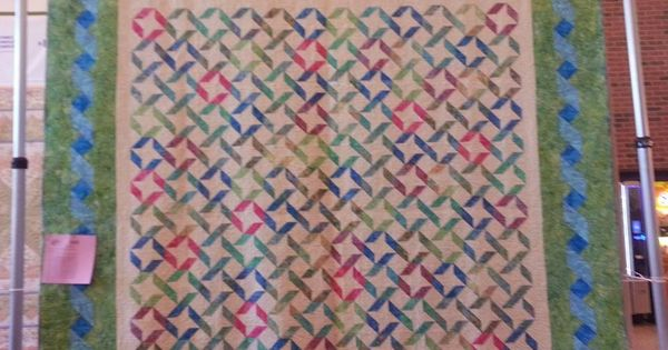 Ribbons & Stars with Twisted Ribbon Border - King Size Quilting Pinterest Ribbons, King ...