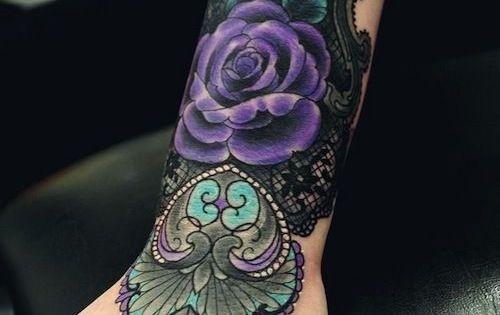 Fancy Violet Rose Arm Tattoo   tattoos   Pinterest ...