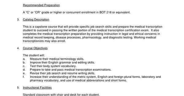 Cover Letter Examples For Medical Office Assistant - http\/\/www - medical transcription resume