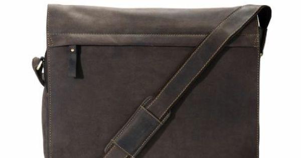 """Visconti 16129 Genuine Leather Briefcase Messenger Bag Laptop Shoulder 15/"""" Large"""
