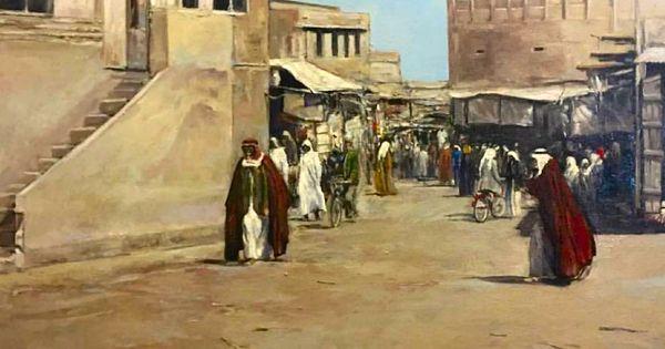 كشك مبارك 1930 بريشة عبدالعزيز ارتي