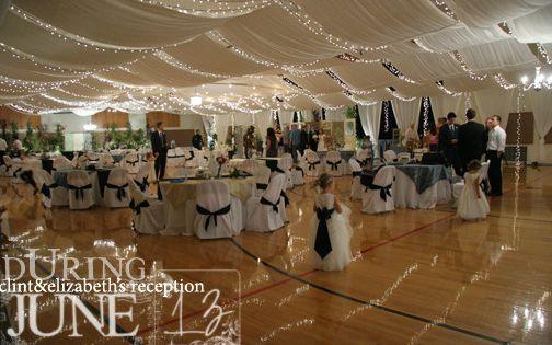 10 Elegant Cultural Hall Wedding Receptions Photos Gym Wedding