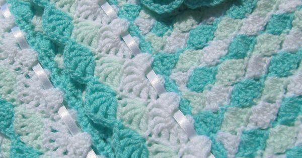 CROCHET PATTERN-Baby Blanket Turquoise Sea Shell-Baby ...