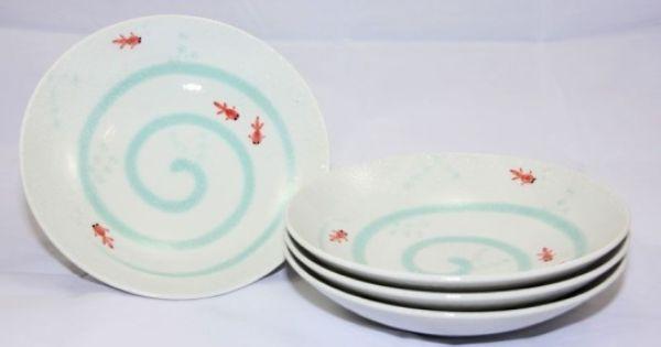 Goldfish 4 Bowls Set A 59 95 Box Sets Bowls And Plates East India Company With Images Plates Japanese Ceramics Bowl Set