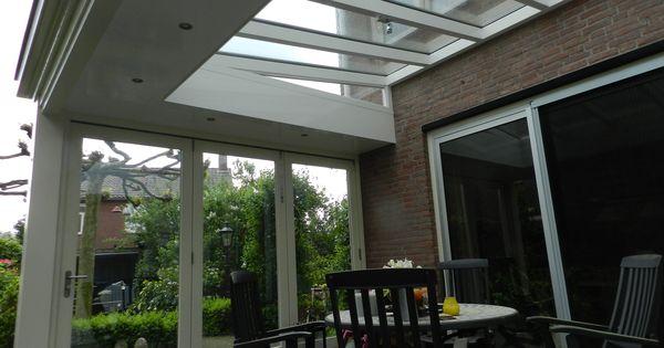 Overkapping met een glazen dak verbouwing pinterest veranda terrasoverkapping en met - Glazen dak dak glijdende ...