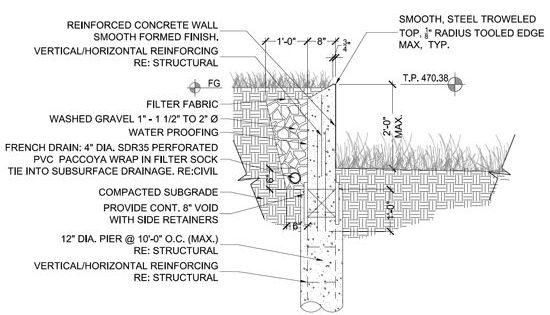 Retaining Wall Design Paper : Quot life of an architect chamfered retaining wall so the