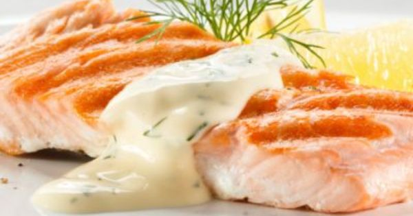 Baked Salmon with Dill Cream Sauce | Recipe | Baked Salmon, Salmon and ...