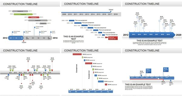 Construction Timeline Powerpoint Diagram  Powerpoint Diagrams