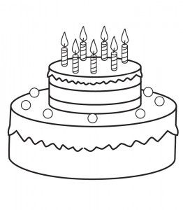 Birthday Cake Coloring Page Cake Drawing Birthday Coloring