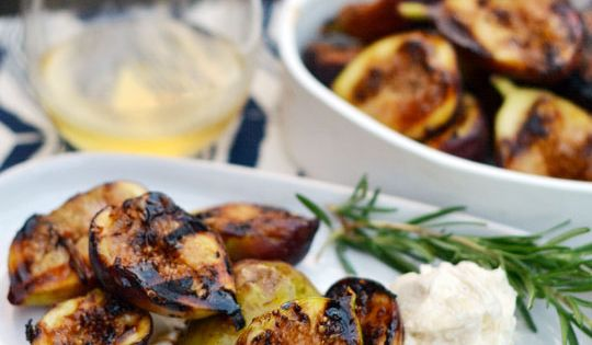 Grilled Figs with Honeyed Mascarpone   Recipe   Figs ...
