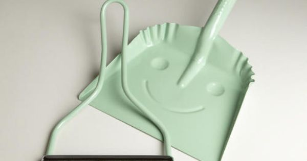 Amazon.com: Mint Smiley Dustpan - World Market: Home & Kitchen