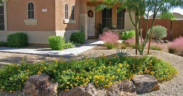 Cheap Backyard Desert Landscaping Ideas Http Backyardidea Net Backyard Landscaping Cheap Backyar Desert Backyard Rock Garden Landscaping Desert Landscaping