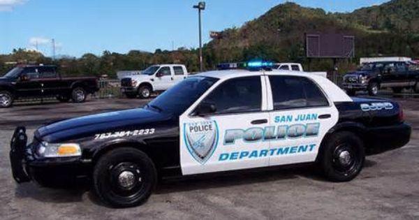 Policia San Juan Puerto Rico Police Vehicle Ford Crown Vic