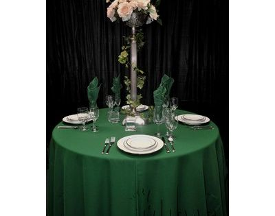 Midas Event Supply Renaissance Round Tablecloth Size 120 Color Hunter Green Round Tablecloth Sizes Tablecloth Sizes Tablecloth Fabric