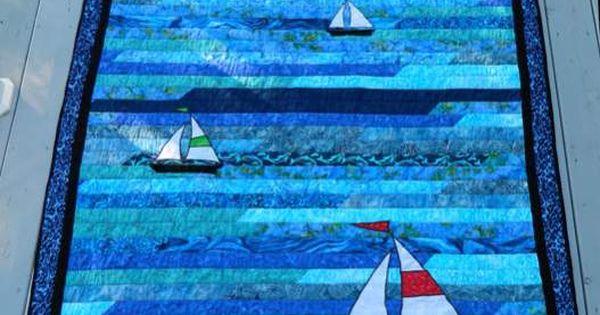 Stoffen Tassen : Boat quilt fabric sailboat two g
