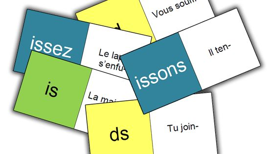 Domino des verbes pr sent de l 39 indicatif fle jeux for Indicatif 86