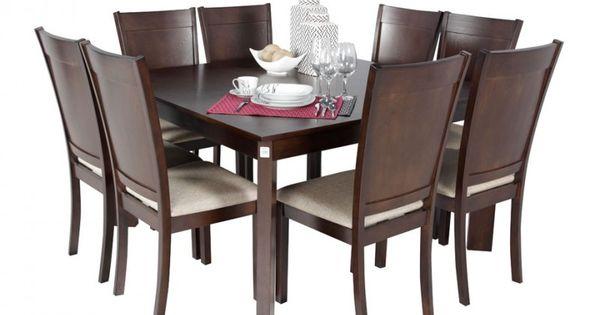Juego de comedor para 8 personas juegos de comedor for Comedores con sillas altas