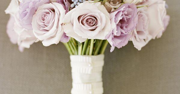 Wedding bouquet - Pale Pink and Lavender Rose Bouquet