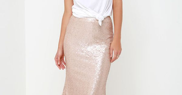913c2a5af ... Gina Sequin Maxi Skirt: Kickin' Up Stardust Blush Sequin Maxi Skirt ...
