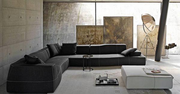 BampB Italia Bend Sofa Italia Interiors And Concrete