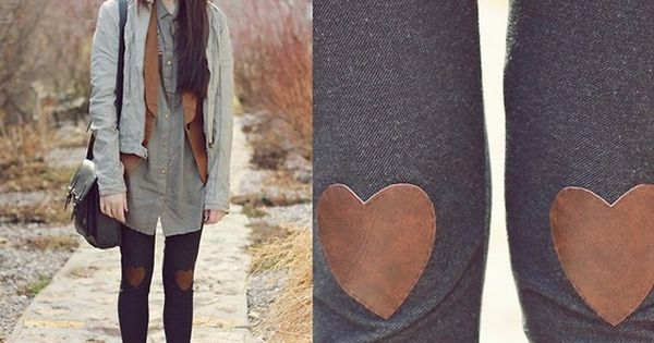 DIY heart leggings & a neutral palette. indie style diy--- ahh!!! i