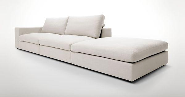 Beige contemporary modular sofa cube contemporary for Modern modular sectional puzzle sofa