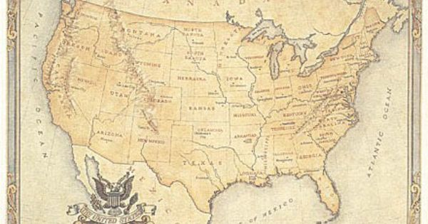 Image From Http Www Mapcenter Com Addon Pics Ot Usa 01 Jpg Best Places To Live Antique Map Us Map