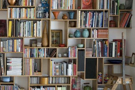 Diy studiomama bookshelf boekenplank muur boekenplanken en boekenkasten - Muur bibliotheek ...
